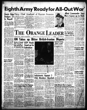 Primary view of object titled 'The Orange Leader (Orange, Tex.), Vol. 48, No. 232, Ed. 1 Monday, October 1, 1951'.