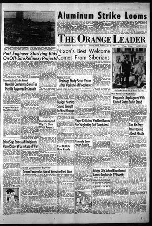 Primary view of object titled 'The Orange Leader (Orange, Tex.), Vol. 56, No. 181, Ed. 2 Tuesday, July 28, 1959'.