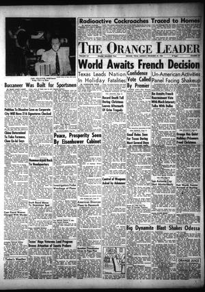 Primary view of object titled 'The Orange Leader (Orange, Tex.), Vol. 52, No. 319, Ed. 1 Monday, December 27, 1954'.