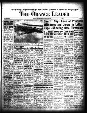 Primary view of object titled 'The Orange Leader (Orange, Tex.), Vol. 37, No. 15, Ed. 1 Wednesday, January 18, 1950'.