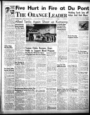 Primary view of object titled 'The Orange Leader (Orange, Tex.), Vol. 48, No. 252, Ed. 1 Wednesday, October 24, 1951'.