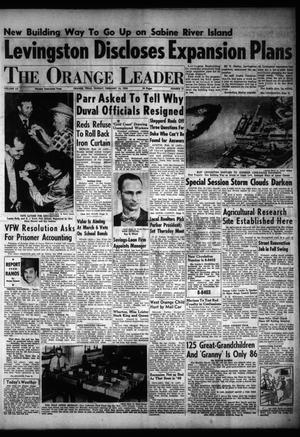Primary view of object titled 'The Orange Leader (Orange, Tex.), Vol. 52, No. 37, Ed. 1 Sunday, February 14, 1954'.