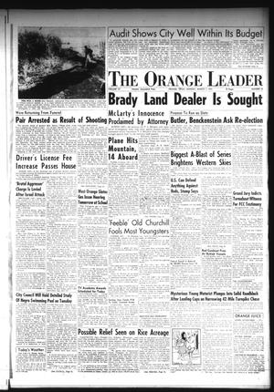 Primary view of object titled 'The Orange Leader (Orange, Tex.), Vol. 52, No. 56, Ed. 1 Monday, March 7, 1955'.