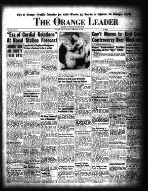 Primary view of object titled 'The Orange Leader (Orange, Tex.), Vol. 37, No. 41, Ed. 1 Friday, February 17, 1950'.