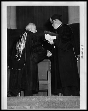 Primary view of object titled 'HSU Graduation, Awarding Diplomas'.