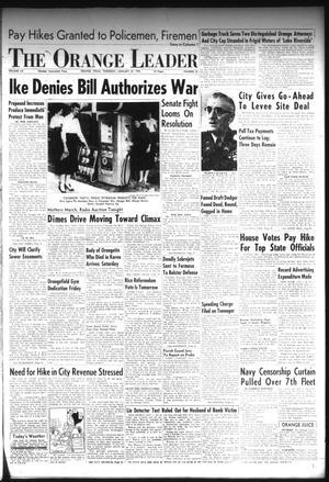 Primary view of The Orange Leader (Orange, Tex.), Vol. 52, No. 23, Ed. 1 Thursday, January 27, 1955