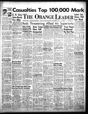 Primary view of object titled 'The Orange Leader (Orange, Tex.), Vol. 48, No. 276, Ed. 1 Wednesday, November 21, 1951'.