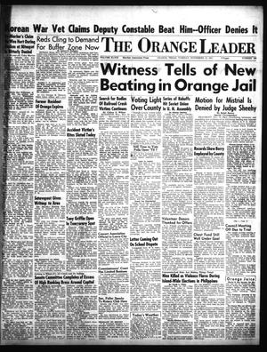 Primary view of object titled 'The Orange Leader (Orange, Tex.), Vol. 48, No. 269, Ed. 1 Tuesday, November 13, 1951'.