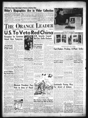 Primary view of object titled 'The Orange Leader (Orange, Tex.), Vol. 52, No. 163, Ed. 1 Thursday, July 8, 1954'.