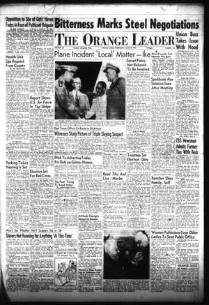 Primary view of The Orange Leader (Orange, Tex.), Vol. 52, No. 154, Ed. 1 Wednesday, June 29, 1955