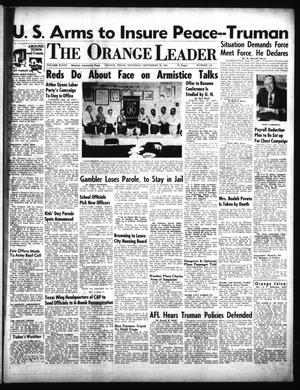 Primary view of object titled 'The Orange Leader (Orange, Tex.), Vol. 48, No. 223, Ed. 1 Thursday, September 20, 1951'.
