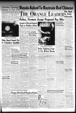 Primary view of The Orange Leader (Orange, Tex.), Vol. 52, No. 24, Ed. 1 Friday, January 28, 1955