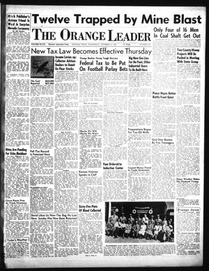 Primary view of object titled 'The Orange Leader (Orange, Tex.), Vol. 48, No. 258, Ed. 1 Wednesday, October 31, 1951'.