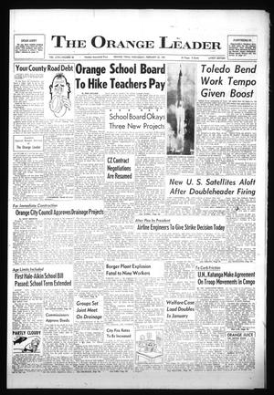 Primary view of object titled 'The Orange Leader (Orange, Tex.), Vol. 58, No. 46, Ed. 1 Wednesday, February 22, 1961'.