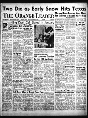 Primary view of object titled 'The Orange Leader (Orange, Tex.), Vol. 48, No. 260, Ed. 1 Friday, November 2, 1951'.