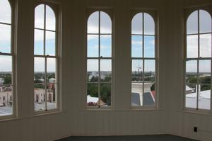 Primary view of object titled 'Presidio County Courthouse, Marfa, inside the lantern room at top of tower'.