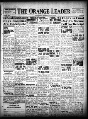 Primary view of object titled 'The Orange Leader (Orange, Tex.), Vol. 27, No. 26, Ed. 1 Wednesday, January 31, 1940'.