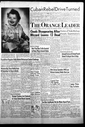 Primary view of object titled 'The Orange Leader (Orange, Tex.), Vol. 55, No. 291, Ed. 1 Wednesday, December 31, 1958'.