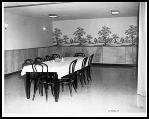 Primary view of object titled 'Private Dining Room, HSU Cafeteria'.