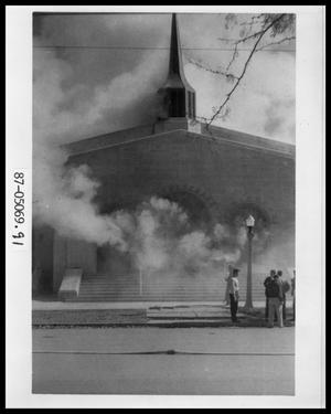 Primary view of object titled 'Fire at Behren's Chapel'.