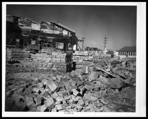 Primary view of object titled 'Fire at Behren's Chapel, Ruins'.