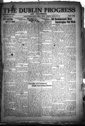 Primary view of The Dublin Progress and Telephone (Dublin, Tex.), Vol. 31St Year, No. 46, Ed. 1 Friday, March 7, 1919