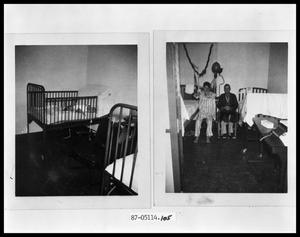 Primary view of object titled 'Polio Victims - Baby; Polio Victims - Two Men'.