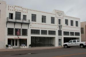 Primary view of object titled 'Brite Building, Marfa'.