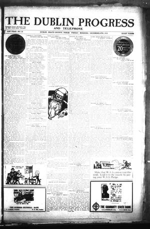 Primary view of The Dublin Progress and Telephone (Dublin, Tex.), Vol. 31St Year, No. 33, Ed. 1 Friday, December 6, 1918