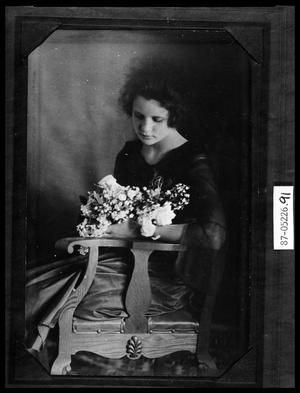 Primary view of object titled 'Portrait of Girl in Chair with Flowers'.