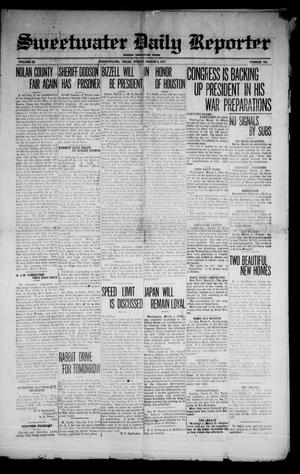 Primary view of object titled 'Sweetwater Daily Reporter (Sweetwater, Tex.), Vol. 3, No. 791, Ed. 1 Friday, March 2, 1917'.