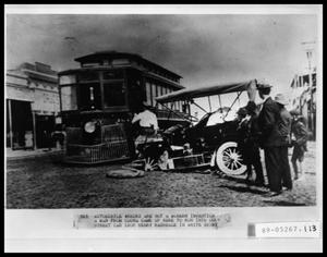 Primary view of object titled 'Street Car, Auto Accident'.