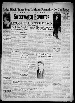 Primary view of object titled 'Sweetwater Reporter (Sweetwater, Tex.), Vol. 40, No. 203, Ed. 1 Monday, October 4, 1937'.