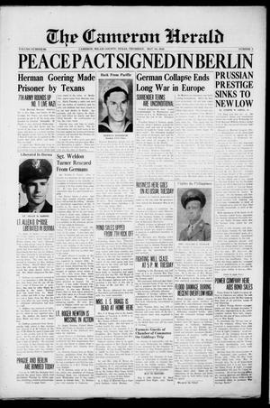 Primary view of The Cameron Herald (Cameron, Tex.), Vol. 86, No. 3, Ed. 1 Thursday, May 10, 1945