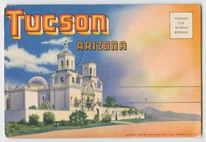 Primary view of object titled '[Fold Out Postcard of Tucson]'.