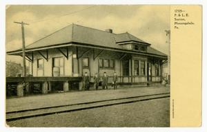 Primary view of object titled '[Postcard of P & L. E. Station]'.