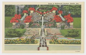 Primary view of object titled '[Postcard of Man-Made Waterfall in Bellingrath Gardens]'.