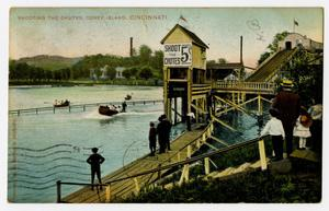 Primary view of object titled '[Postcard of Shooting the Chutes at Coney Island]'.