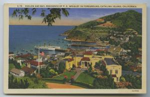 Primary view of object titled '[Postcard of Avalon and Bay on Catalina Island]'.
