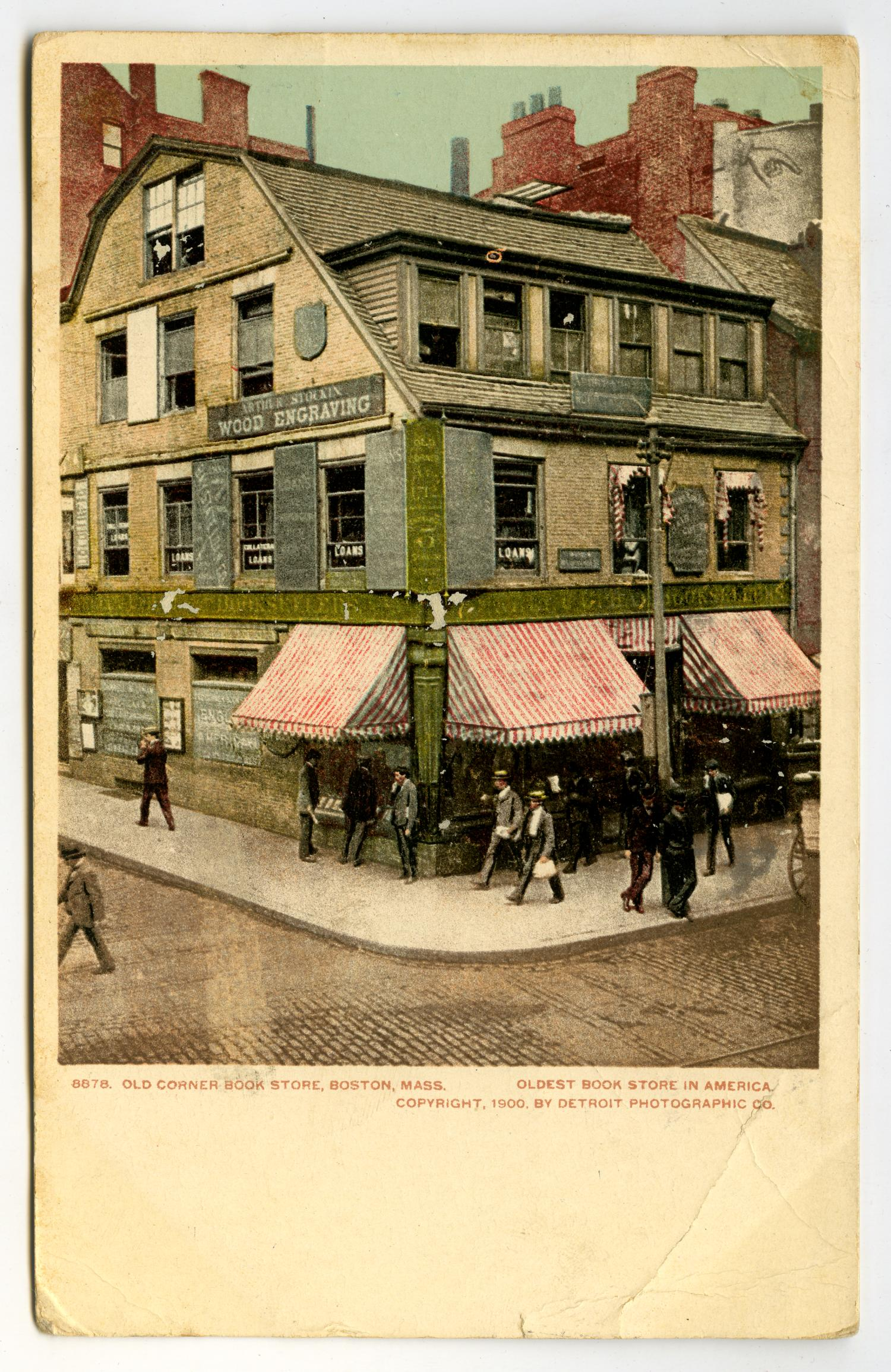 Postcard of the Oldest Book Store in America] - The Portal