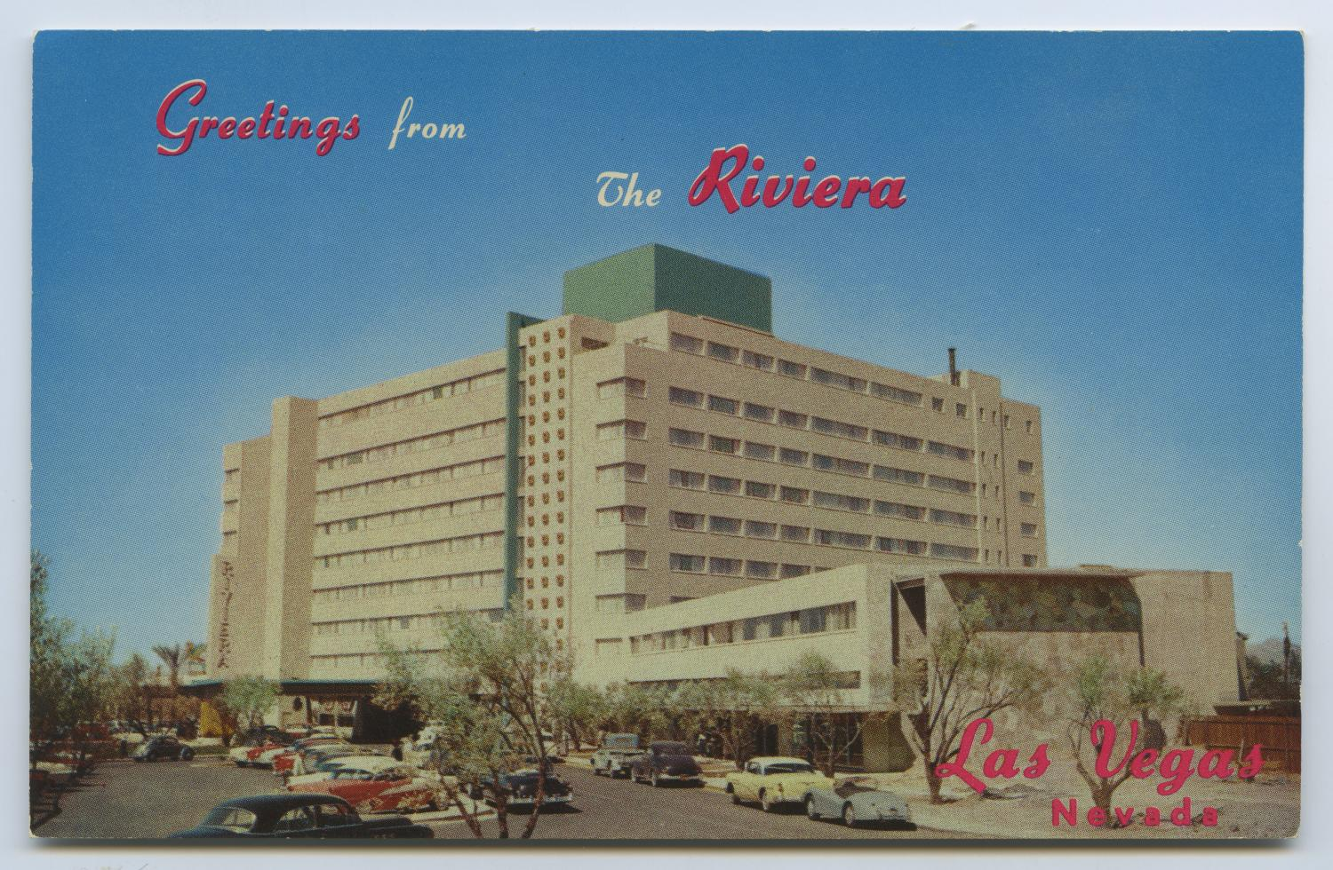 [Postcard of Riviera Hotel]                                                                                                      [Sequence #]: 1 of 2