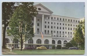 Primary view of object titled '[Postcard of Entrance of Greenbrier #1]'.