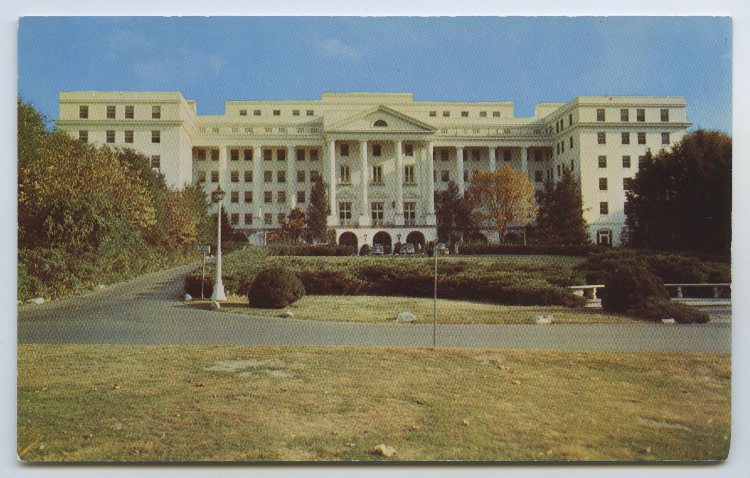 [Postcard of Greenbrier From Front View]                                                                                                      [Sequence #]: 1 of 2