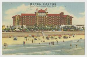 Primary view of object titled '[Postcard of Hotel Galvez Seaside Resort]'.