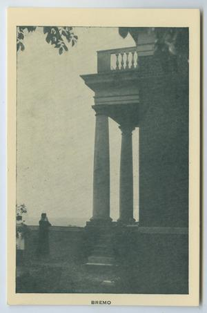 Primary view of object titled '[Postcard of East Portico of Bremo]'.