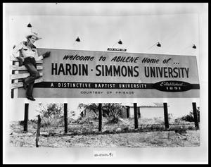 Primary view of object titled 'Early HSU Welcome Sign'.