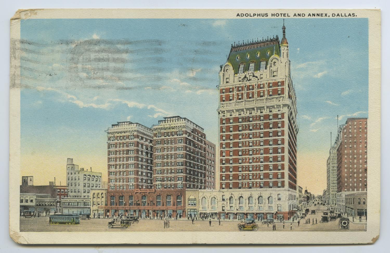 [Postcard of Adolphus Hotel]                                                                                                      [Sequence #]: 1 of 2