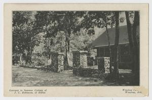 Primary view of object titled '[Postcard of Summer Cottage of J. C. Robinson]'.