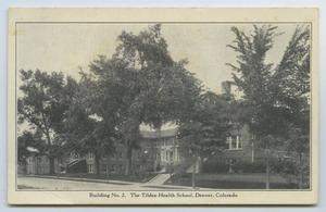 Primary view of object titled '[Postcard of Tilden Health School]'.