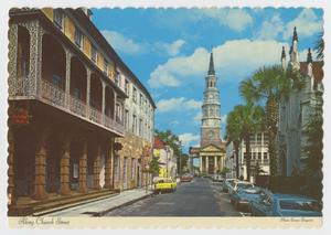Primary view of object titled '[Postcard of Church Street]'.